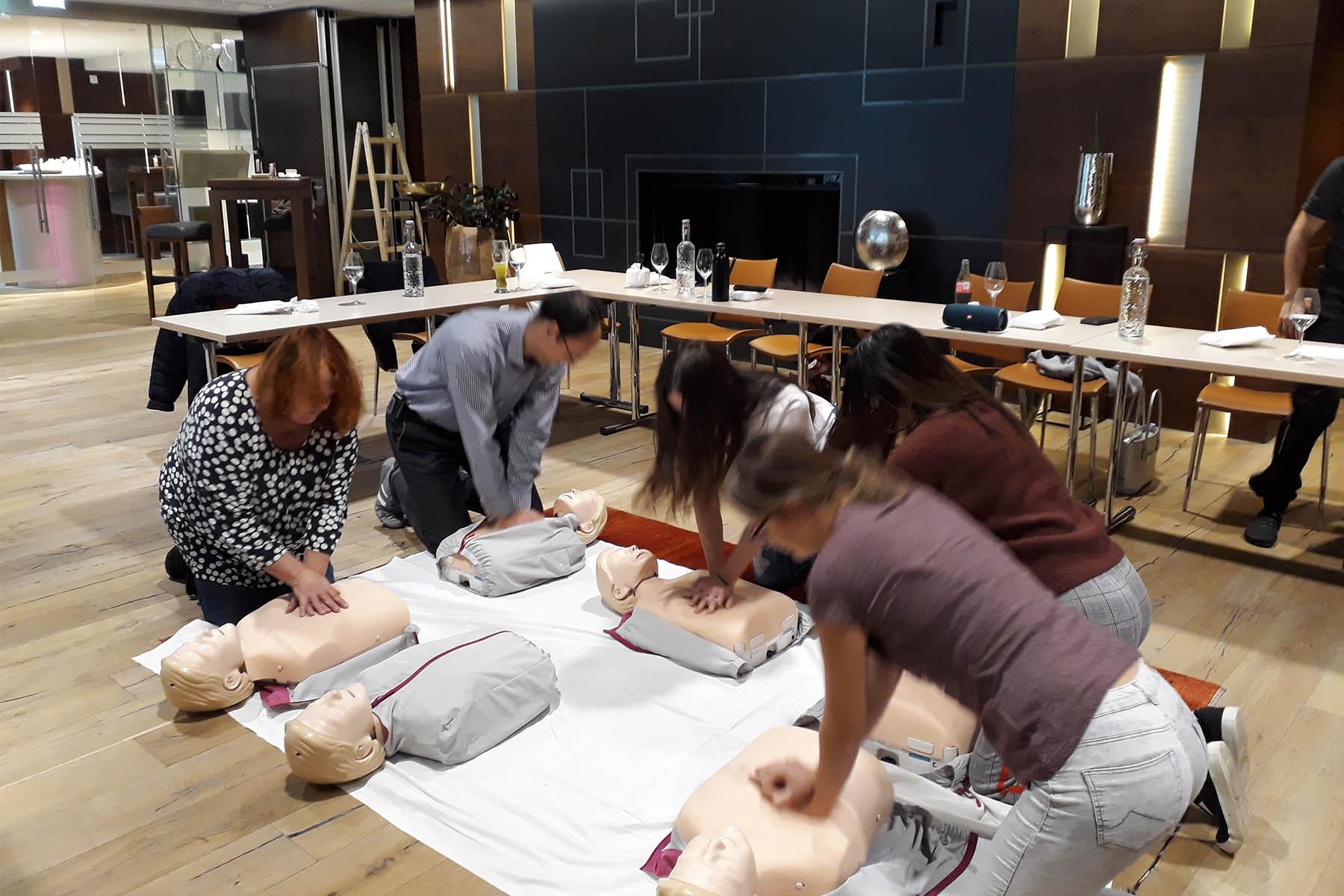 Erste-Hilfe-Kurs im 5-Sterne Hotel Das Central in Sölden